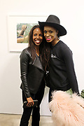New York, NY-Jan. 11: (L-R) Arts Educator/Author Sarah Lewis and Author Latham Thomas attend the Gordon Parks: I AM YOU Opening Reception presented by the Gordon Parks Foundation  held at the Jack Shanmain Gallery on January 11, 2018 in New York City.  (Photo by Terrence Jennings/terrencejennings.com)