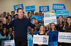 ©Licensed to i-Images Picture Agency. 07/03/2015. Harrow, United Kingdom. Prime Minister David Cameron makes a speech in rally in North London.  Picture by Daniel Leal-Olivas / i-Images