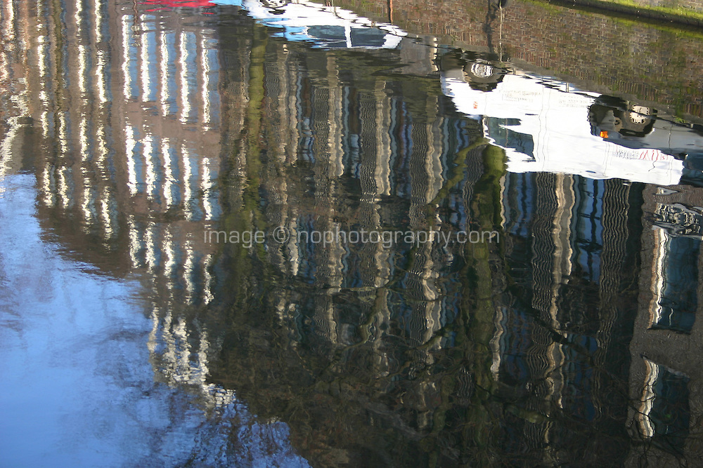 Reflections in the Canal, Amsterdam, the Netherlands<br />
