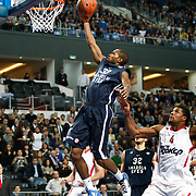 Anadolu Efes's Oliver Lafayette (L) during their Turkish Airlines Euroleague Basketball Top 16 Group E Game 4 match Anadolu Efes between Olympiacos at Sinan Erdem Arena in Istanbul, Turkey, Wednesday, February 08, 2012. Photo by TURKPIX