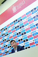 The coach of the national sub21 soccer team of Spain, Albert Celades, presents the list of players for international match against Slovakia. September 29,2017.(ALTERPHOTOS/Acero)