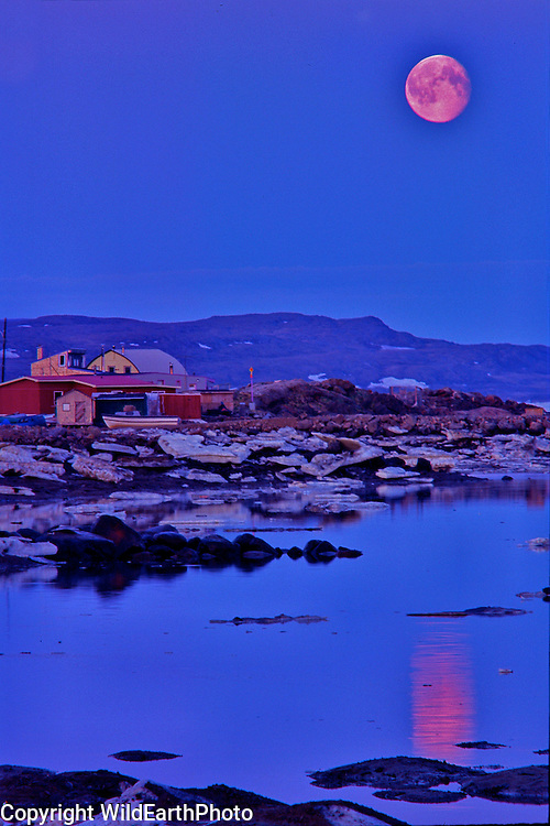 July Moon Rise Over Iqaluit