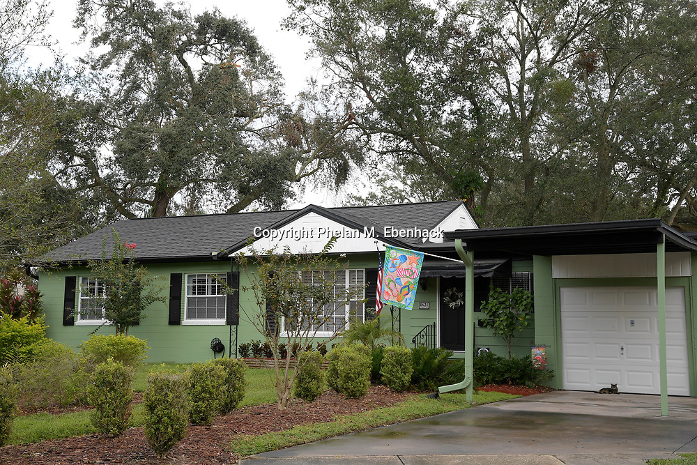 A typical home sits in the Audubon Park neighborhood Saturday, Sept. 23, 2017, in Orlando, Fla. (Photo by Phelan M. Ebenhack)