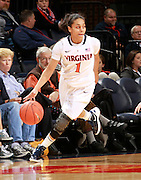 CHARLOTTESVILLE, VA- December 7: China Crosby #1 of the Virginia Cavaliers handles the ball during the game against the Liberty Lady Flames on December 7, 2011 at the John Paul Jones arena in Charlottesville, Va. Virginia defeated Liberty 64-38. (Photo by Andrew Shurtleff/Getty Images) *** Local Caption *** China Crosby
