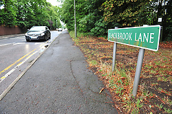 © Licensed to London News Pictures. 22/07/2017<br /> Blackbrook Lane,Bickley  land to right behind trees.<br /> TRAVELLERS LEAVE AN ESTIMATED 250 TONES OF RUBBISH AFTER BEING EVICTED .<br /> After 14 days of no help from Bromley Council A group called Thornet Wood Co Owners had to take out a private injuction to have travellers removed from private land Called Blackbrook Lane Land which is adjacent to Thornet Wood Road, Bickley, Greater London.  The travellers have left 250 tons of rubbish behind including baths,bricks,mattresses,wood,fridges,plastics etc..while the fire brigade and Enviroment agency are happy there is no hazardous waste it is now going to cost the consortium of land owners an estimated £100,000 to clear and clean the site.<br /> Photo credit: Grant Falvey/LNP