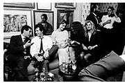 Imran Khan, Tracey Marchioness of  Worcester, Clio nGoldsmith and Richard Young amongst others. Valentino party, Annabel's. 15 September 1987. © Copyright Photograph by Dafydd Jones 66 Stockwell Park Rd. London SW9 0DA Tel 020 7733 0108 www.dafjones.com