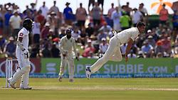 November 7, 2018 - Galle, Sri Lanka - England cricketer James Anderson delivers a ball during the 2nd day's play of the first test cricket match between Sri Lanka and England at Galle International cricket stadium, Galle, Sri Lanka. 11-07-2018  (Credit Image: © Tharaka Basnayaka/NurPhoto via ZUMA Press)