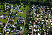 "Nederland, Gelderland, gemeente Barneveld, 30-06-2011;.Voorthuizen, Recreatiecentrum De Boshoek. Recreation area with houses and mobile homes ""De Boshoek"" near the city of Voorthuizen..luchtfoto (toeslag), aerial photo (additional fee required).copyright foto/photo Siebe Swart"