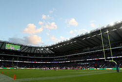 A general view during the International Series NFL match at Twickenham, London. PRESS ASSOCIATION Photo. Picture date: Sunday October 29, 2017. See PA story GRIDIRON London. Photo credit should read: Simon Cooper/PA Wire. RESTRICTIONS: News and Editorial use only. Commercial/Non-Editorial use requires prior written permission from the NFL. Digital use subject to reasonable number restriction and no video simulation of game.
