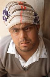 Portrait of man with Downs Syndrome at the Apahaj Ashram; Patiala; Punjab; India,