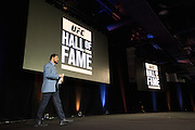 """LAS VEGAS, NV - JULY 10:  Antonio Rodrigo """"Minotauro"""" Nogueira takes the stage as he is inducted into the UFC Hall of Fame at the Las Vegas Convention Center on July 10, 2016 in Las Vegas, Nevada. (Photo by Cooper Neill/Zuffa LLC/Zuffa LLC via Getty Images) *** Local Caption *** Antonio Rodrigo """"Minotauro"""" Nogueira"""