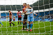 Bradford City defender Anthony McMahon (29) keeps a close watch on Coventry City forward George Thomas (27)  during the EFL Sky Bet League 1 match between Coventry City and Bradford City at the Ricoh Arena, Coventry, England on 11 March 2017. Photo by Simon Davies.
