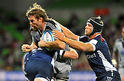 Jason Eaton (HUR)<br /> Melbourne Rebels v The Hurricanes<br /> Rugby Union - 2011 Super Rugby<br /> AAMI Park, Melbourne VIC Australia<br /> Friday, 25 March 2011<br /> © Sport the library / Jeff Crow
