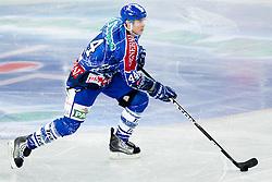 Geoff Waugh (KHL Medvescak Zagreb, #44) during ice-hockey match between KHL Medvescak Zagreb and HK Acroni Jesenice in 39th Round of EBEL league, on Januar 8, 2012 at Arena Zagreb, Zagreb, Croatia. (Photo By Matic Klansek Velej / Sportida)