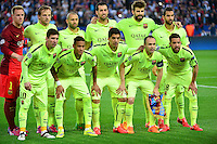 Equipe Barcelone - 15.04.2015 - Paris Saint Germain / Barcelone - 1/4Finale Aller Champions League<br />Photo : Dave Winter / Icon Sport