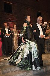Sara Danius, Richard J.Roberts <br /> <br />  <br /> <br />  beim Nobelbankett 2016 im Rathaus in Stockholm / 101216 <br /> <br /> <br /> <br /> ***The Nobel banquet, Stockholm City Hall, December 10th, 2016***