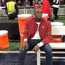 """Usain Bolt releases a photo on Instagram with the following caption: """"Sub me in Coach #SuperBowl2019 \ud83d\ude02\ud83d\ude02"""". Photo Credit: Instagram *** No USA Distribution *** For Editorial Use Only *** Not to be Published in Books or Photo Books ***  Please note: Fees charged by the agency are for the agency's services only, and do not, nor are they intended to, convey to the user any ownership of Copyright or License in the material. The agency does not claim any ownership including but not limited to Copyright or License in the attached material. By publishing this material you expressly agree to indemnify and to hold the agency and its directors, shareholders and employees harmless from any loss, claims, damages, demands, expenses (including legal fees), or any causes of action or allegation against the agency arising out of or connected in any way with publication of the material."""