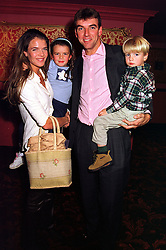 Tennis player ANNABEL CROFT, her husband MEL COLEMAN and their children CHARLIE and AMBER, at a party in London on 12th October 1999.MXM 49