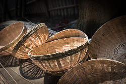 16 September 2018, Sohal Tole, Jahada rural municipality, Nepal: Basket making is a traditional skill among the Mohali (Tarai Dalits, meaning Dalits living on the plainlands of eastern Nepal), but it is only recently that they have been able to access the market and start selling their goods, in the nearby town of Biratnagar, Province 1, Nepal. Access has been made possible through support from the Nepal Evangelical Lutheran Church. Sohal Tole is a community inhabited by Santal and Dalit (Musahar) people, who find themselves as the very margin of society in Nepal. The 54 households are supported by the Nepal Evangelical Lutheran Church, as they mobilize together on disaster preparedness, income generating activities, financial governance, and mobilization on sanitation, education and entrepreneurship. The community project also receives technical support from the Lutheran World Federation World Service programme.