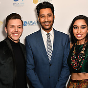 Jassa Ahluwalia,Harbhajan Mann and Amrit Kaur Lohia attend the BritAsiaTV Presents Kuflink Punjabi Film Awards 2019 at Grosvenor House, Park Lane, London,United Kingdom. 30 March 2019