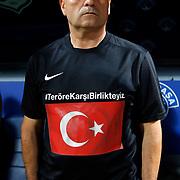 Kasimpasa's headcoach Rıza Calimbay during their Turkish Superleague soccer match Kasimpasa between Fenerbahce at the Recep Tayyip Erdogan stadium in Istanbul Turkey on Sunday 13 September 2015. Photo by Aykut AKICI/TURKPIX