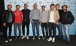 Manchester City backroom staff (left to right) Manager Pep Guardiola, Xabi Mancisidor, Richard Wright, Rodollfo Borrell, Mikel Arteta, Carles Planchart, Brian Kidd and Lorenzo Buenaventura arriving for the All or Nothing: Manchester City, world premiere at Vue Printworks, Manchester.