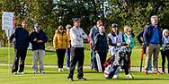 08-10-2017 - Foto van de finaledag van de Dutch Masters 2017, een European Senior Tour Event. Gespeeld op The Dutch in Spijk van 6 t/m 8 oktober.  Game 18: Paul Eales, Clark Dennis, Carl Mason