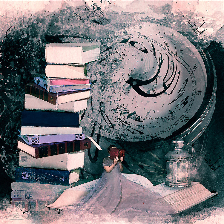 A girl and her books, it's a beautiful thing. Theres just never enough time to read them all.