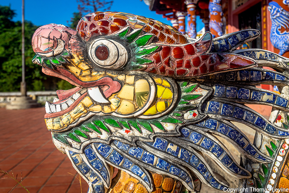 The dragon at Confucius Temple is very colorful and incredible to see because of the intricate pieces.