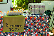 Bumbuster eggs for sale in at Daylesford Sunday Market, Daylesford Spa Country Railway, Daylesford, Victoria, Australia