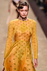February 21, 2019 - Milan, Italy - GIGI HADID on the catwalk for Fendi Autumn Winter 2019 collection during Milan Fashion Week. (Credit Image: © i-Images via ZUMA Press)