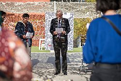 7 December 2019, Madrid, Spain: Lutheran World Federation vice president for Latin America Nestor Friedrich leads a moment of prayer, as people of faith gather in 'A Prayer for the Rainforest' as part of the Cumbre Social por el Clima, on the fringes of COP25 in Madrid, where faith-based organizations continue to urge decision-makers to take action for climate justice.