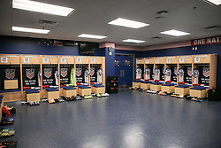 September 1, 2017 - Harrison, NJ, USA - Harrison, N.J. - Friday September 01, 2017: U.S. Men's National team locker room prior to their match versus Costa Rica during a 2017 FIFA World Cup Qualifying (WCQ) round match between the men's national teams of the United States (USA) and Costa Rica (CRC) at Red Bull Arena. (Credit Image: © John Dorton/ISIPhotos via ZUMA Wire)