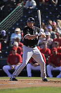 TEMPE, AZ - MARCH 4:  Mark Teahen #23 of the Chicago White Sox bats against the Los Angeles Angels on March 4, 2010 at Tempe Diablo Stadium in Tempe, Arizona. (Photo by Ron Vesely)