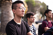 """SAN FRANCISCO, CA – SEPTEMBER 15, 2017: Incoming freshmen in the class of 2021 prepare to tour and discuss parklets on Valencia Street, where the Pavement to Parks initiative is challenging the city's perception of public space through urban design. In San Francisco, where streets and public rights-of-way make up 25% of the city's land area, the design and construction of """"parklets"""" in former parking spaces is an attempt to reclaim some of that space for the common good. Co-curricular programs like these are organized weekly in each global city as a compliment to the students' coursework, and are designed to facilitate active learning through the civic partnerships. Consistent with the """"flipped"""" classroom model, these experiential learning components are an embodiment of the Minerva ethos, where the city is the classroom. For incoming freshmen, San Francisco is the first of eight global cities to serve as a backdrop for their undergraduate education.<br /> <br /> Minerva is a unique 21st century university built on a global four-year education model. It is deliberately designed to enhance intellectual growth and prepare students for success in today's rapidly changing global context. Founded in 2014, the university targets the developing world's rising middle class who seek an elite American education. With a 2.8% acceptance rate among the founding class, Minerva is the most selective undergraduate program in U.S. history."""