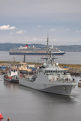 Pictured: HMS Forth, the navy's newest warhip arrive at Leith<br /> <br /> Dave Cullen | EEm 15 August 2019