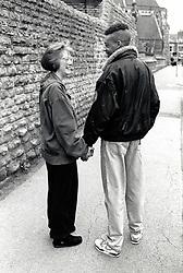 Young couple, Nottingham, UK 1990