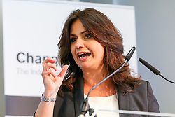 © Licensed to London News Pictures. 30/04/2019. London, UK. Heidi Allen, Leader of Change UK speaking at the Change UK's People's Vote Remain rally for the European Elections, in Westminster. Photo credit: Dinendra Haria/LNP