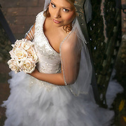 A bride poses for her bridal portrait at the Governor's Mansion in Columbia, S.C. ©Travis Bell Photography