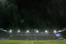 Snow falls at Sheffield Wednesday's Hillsborough Football Stadium