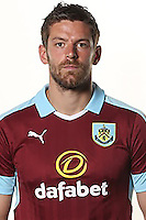 BURNLEY, ENGLAND - JULY 20: Lukas Jutkiewicz of Burnley poses during the Premier League portrait session on July 20, 2016 in Burnley, England. (Photo by Barrington Coombs/Getty Images for Premier League)