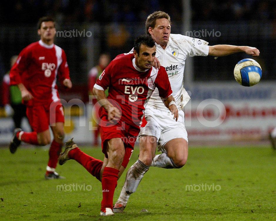 Jena , 190107 , Saison 2006/2007 ; Fussball 2.Bundesliga FC Carl Zeiss Jena - Kickers Offenbach  Stefan KUEHNE (Jena) gegen Suat TUERKER (Offenbach)