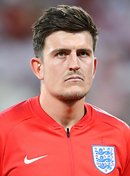 England's Harry Maguire prior to kick-off during the FIFA World Cup Group G match at The Volgograd Arena, Volgograd.