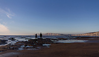 A fresh crisp winters day on the beach at Compton Bay, Isle of Wight