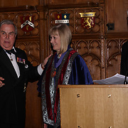 London,England,UK. 31th March 2017: Lord David Brewer presents Lady Dyson winner of the awards of the Master of the Art of Humanity at the Athene Festival 2017 at Guildhall,London,UK. by See Li