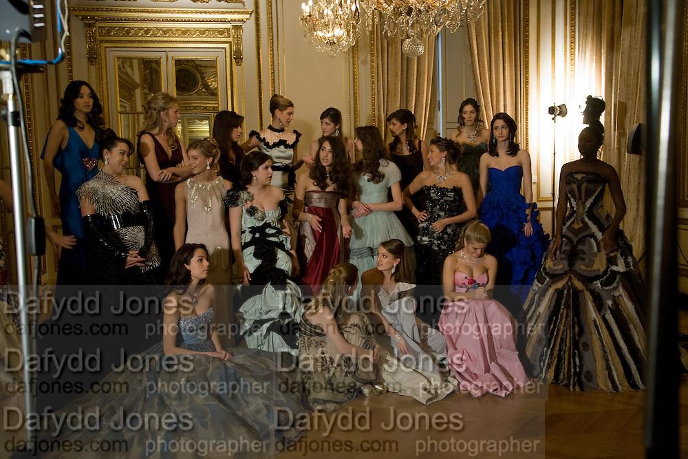 THE DEBUTANTES; ; The 2008 Crillon Debutante Ball. Getting Ready the Day before. Crillon Hotel. Paris. 29 November 2008. *** Local Caption *** -DO NOT ARCHIVE-© Copyright Photograph by Dafydd Jones. 248 Clapham Rd. London SW9 0PZ. Tel 0207 820 0771. www.dafjones.com.