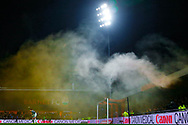 Smoke flares were regularly released in the stands during The FA Cup fourth round match between Barnet and Brentford at The Hive Stadium, London, England on 28 January 2019.