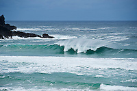 Wave breaks at Dalmore beach, Isle of Lewis, Outer Hebrides, Scotland