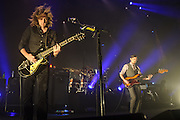 CARL BROEMEL, TOM BLANKENSHIP  of My Morning Jacket perform at Merriweather Post Pavilion in Columbia, MD. (Photo by Kyle Gustafson)