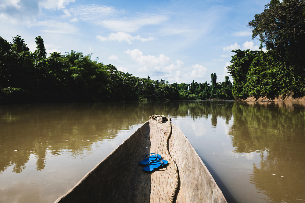 Traveling by dugout canoe on the Clay River in Likan, Papua New Guinea<br /> <br /> (July 21, 2019)